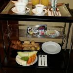 Breakfast trolly with our selection