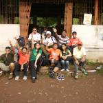 our entire group at the temple from where trails starts to fort Mahuli