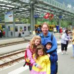 Waiting in Lauternbrunnen for train