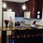 Cute little fully stocked kitchen