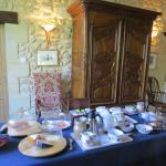 A part of the breakfast buffet