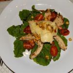 ensalada de rucula-pollo