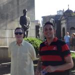 Marcelo Mansilla providing guide services at the Ricoleta Cemetery in Buenos Aires