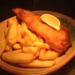 Shandy battered fish and chips