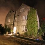 Night shot of the farmhouse