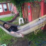 Mi amigo fede disfrutando del hostel