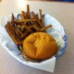 One of the great burgers at The Burger Dive.