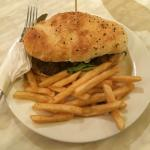 Steak Sandwich and fresh French Fries