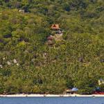 Our four villas viewed from the sea