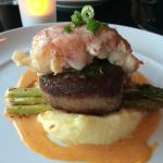 Tenderloin of Beef with Lobster tail.