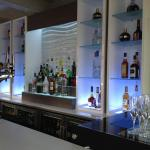 A selection of drinks available behind the bar