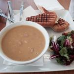 Panini with soup.