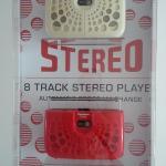 Vintage 8 Track Players on display