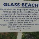 Please DO NOT remove the glass from this beach