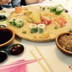 Sushi plaat