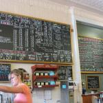 Menu board in Montana Coffee Traders
