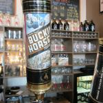 Bucking Horse Pilsner on tap