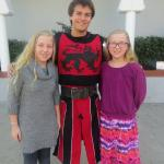 Me, my sister, and the Red Knight!!