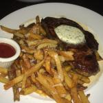 Steak with parmesan frites