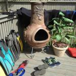 back deck great for drying dive gears