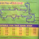 Hop on/hop off bus timetable outside the Kilmainham Gaol just opposite the hotel.