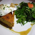 Valentine's Day butternut & gorgonzola tart at Cellar Door..Very good!