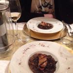 """L'entrée... Lentilles """"caviar"""" avec foie gras, un régal"""