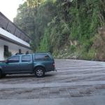 Parking area in the back of the hotel.