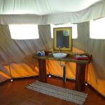 Bathroom sink in Las Carpas luxury camping tents