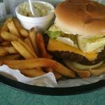 Sno Cap burger with cheese.