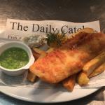 Butty Bach beer battered cod and chips!!!