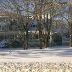 OSPI coated with snow, rooms available in winter