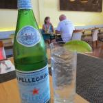 ice cold perrier and lime