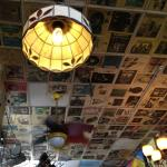 Ceiling at Bombfire Pizza
