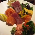 I had some combination of tuna and salmon. Loved it!!