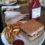Bison Burger with Truffle fries:)