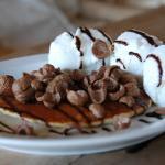 Pancake with ice cream