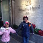 My kids infront of the hotel...