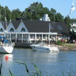Yachts can dock at the Haukilahden Pavilion