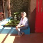 zen pool in closed courtyard of Bridal Garden Suite.