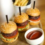 TRio of mini burgers & chips