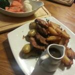 Lamb with chips and veg