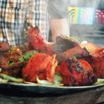 Sizzling hot tandoori dish