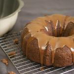 Applesauce Cake with Goat's Milk Caramel