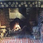 Fireplace main bar area