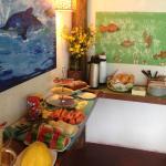 Café da manhã preparado com muito carinho pela Dona Flor e o Seu Carlito