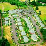 Aerial view of the Oregon Garden Resort