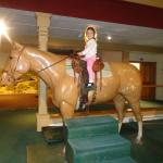 My daughter loved that she was able to sit on this horse.