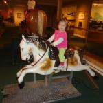There was a smaller horse for my younger daughter too.