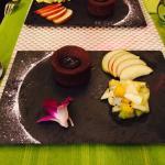 Moelleux chocolat Pascoet cœur coulant mangue passion